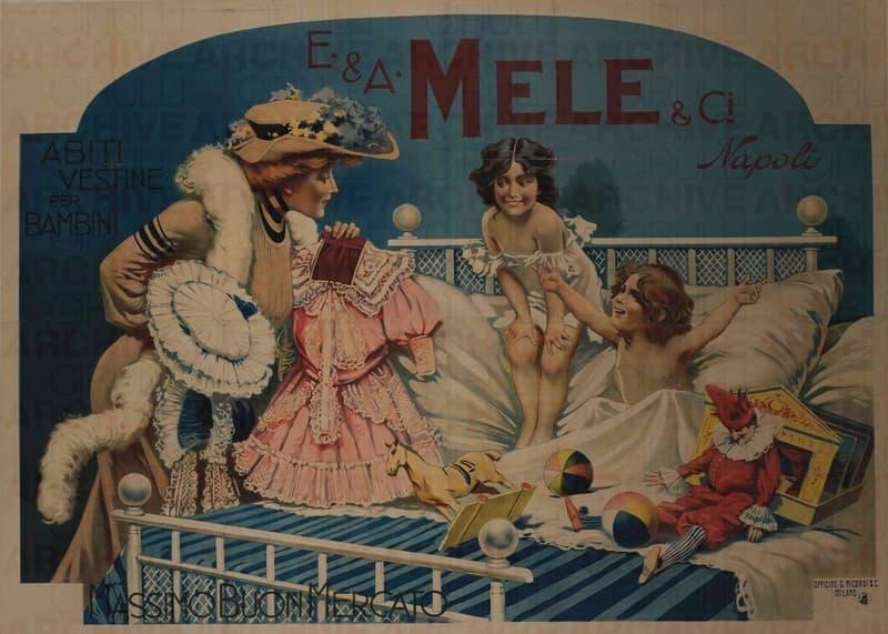 E. & A. Mele & Ci. Napoli. Abiti e Vestine per Bambini. Massimo buon mercato