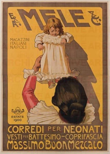 E. & A. Mele & Ci. Napoli. Corredi per neonati. Massimo buon mercato