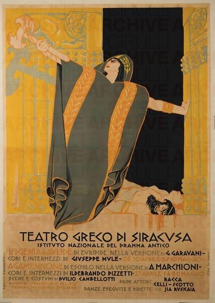 """Teatro Greco di Siracusa """"Ifigenia in Aulide"""" di Euripide """"Agamennone"""" di Eschilo"""