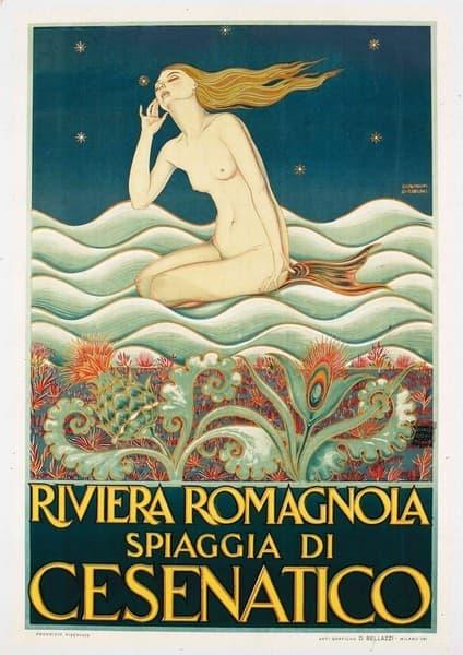 Riviera romagnola. Spiaggia di Cesenatico