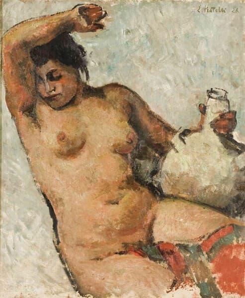 Nudo Femminile con Boccia