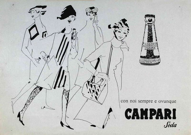 Studio per pubblicità Campari Con noi sempre e ovunque Campari Soda