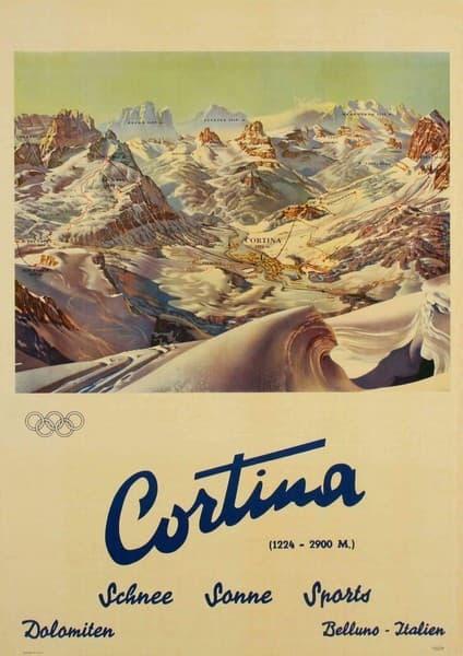 Cortina Primi giochi olimpici invernali in Italia