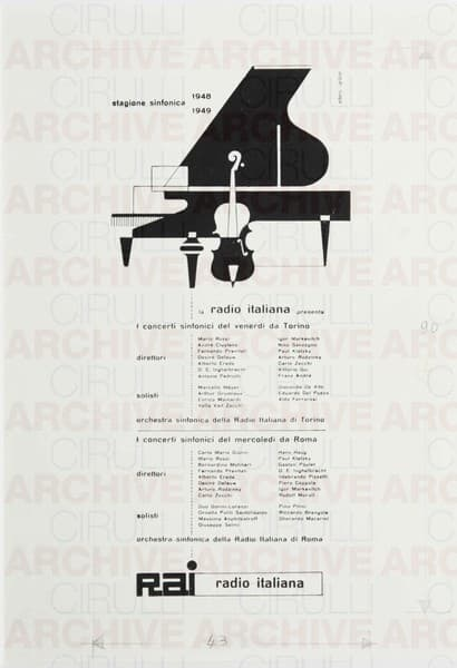 Rai Radio Italiana Stagione sinfonica 1948-1949