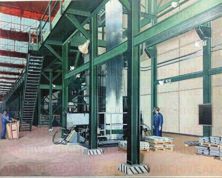 Industria metallurgica. Particolare Zincatura