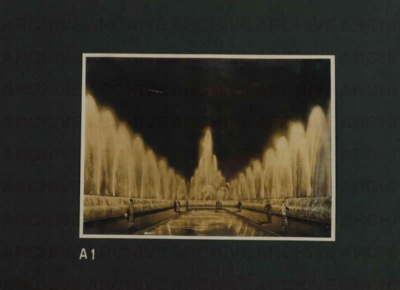 Esposizione Universale di Roma 1942 Giardini luminosi Mappa