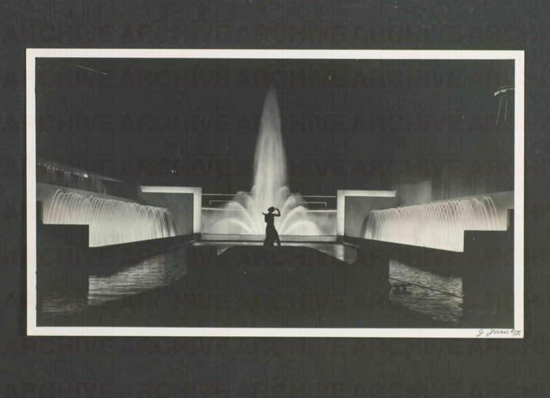 Esposizione Universale di Roma 1942 Giardino luminoso dell'Esposizione di Liegi