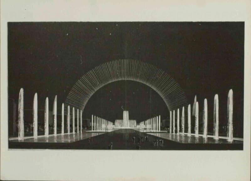 Esposizione Universale di Roma 1942 Foto di bozzetto per fontana