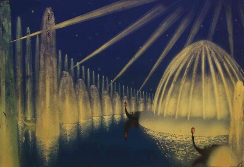 """Esposizione Universale di Roma 1942 Studio per il progetto """"Giardini Luminosi"""""""