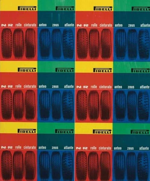 Studio pubblicitario per pneumatici Pirelli