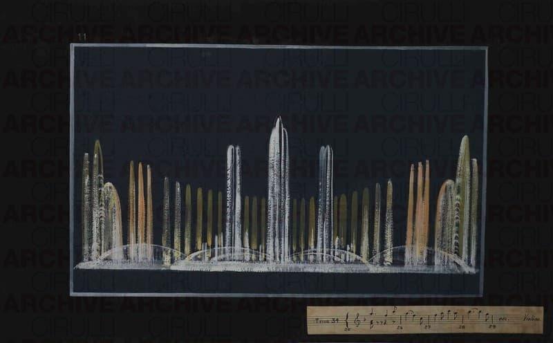 Esposizione Universale di Roma 1942 Studio per  fontane danzanti Giochi di luce e musica