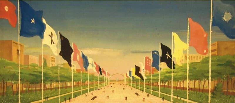 Esposizione Universale di Roma 1942 Studio per allestimento del Viale Imperiale