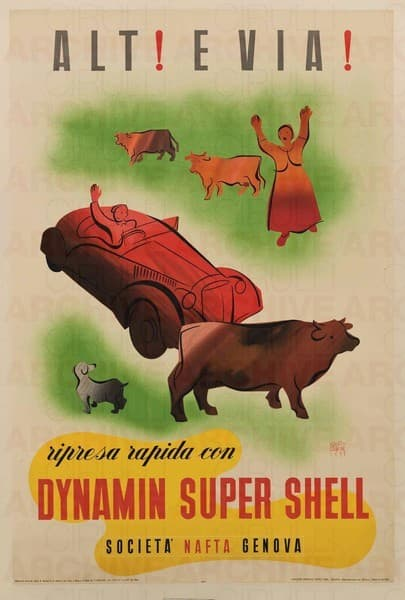 Dynamin Super Shell Società Nafta Genova