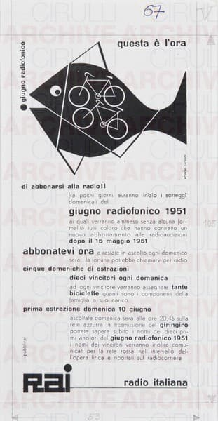 Rai Radio Italiana Giugno radiofonico Questa è l'ora di abbonarsi alla radio !!