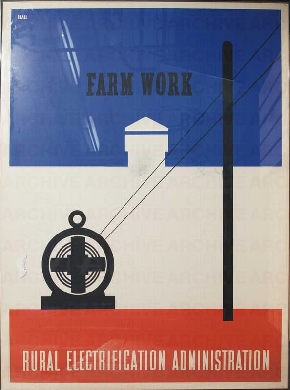 Farm work - Rural electrification administration