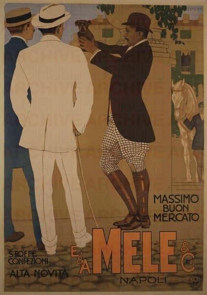 E. & A. Mele & Ci. Napoli Stoffe Confezioni Alta Novità. Massimo buon mercato