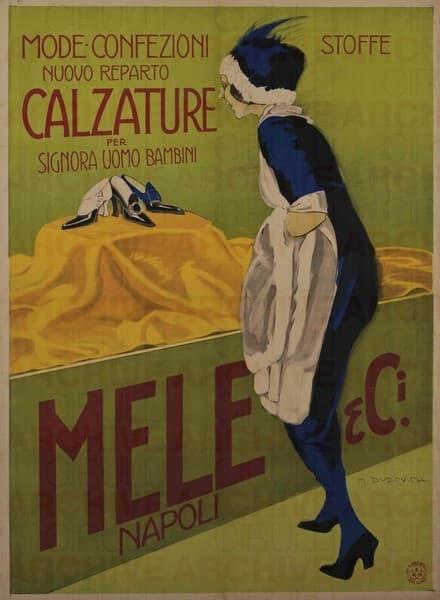 Mele & Ci. Napoli. Mode Confezioni. Nuovo reparto calzature per signora uomo bambini