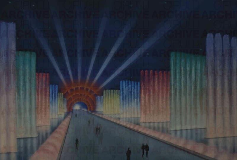 Esposizione Universale di Roma 1942 Studio per progetto di acqua-luce