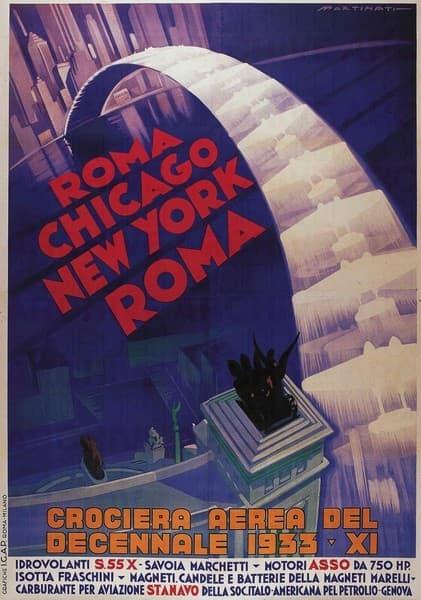 Crociera Aerea del Decennale Roma Chicago New York Roma