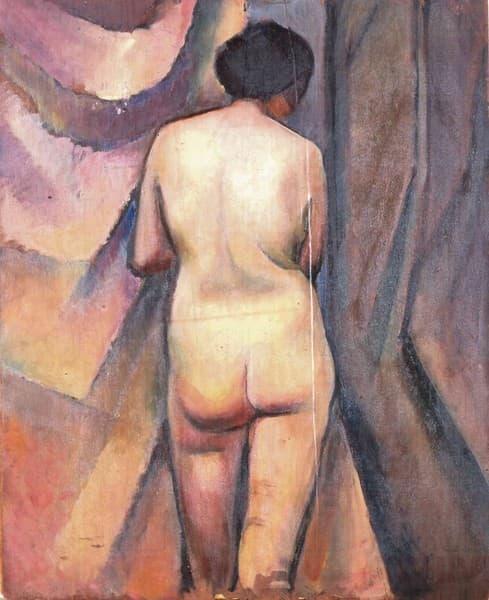 Nudo femminile di spalle