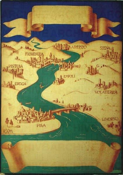Bozzetto di manifesto per l'Ente Attività Toscane di Firenze