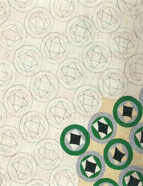 Progetto grafico di tessuto per la X Triennale di Milano