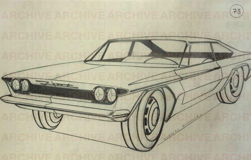 Studio per progetto di automobile Fiat
