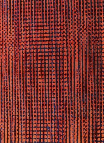 Progetto grafico di tessuto per la XI Triennale di Milano