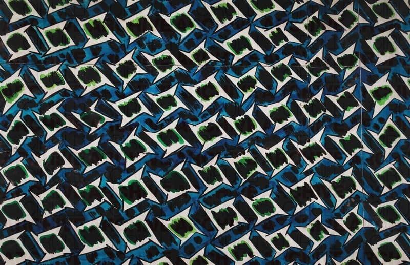 Progetto grafico di tessuto per X Triennale di Milano