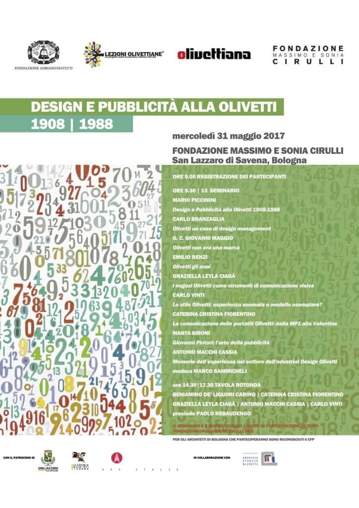 """Seminario di formazione """"Design e pubblicità alla Olivetti: 1908-1988"""""""