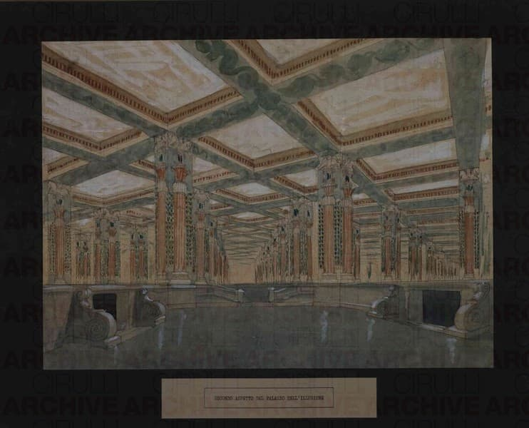 Esposizione Universale di Roma 1942 Secondo aspetto del Palazzo dell'Illusione