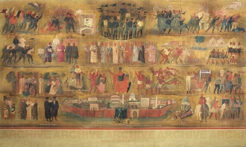 Esposizione Universale di Roma 1942 Studio per gli affreschi del Palazzo dei Congressi