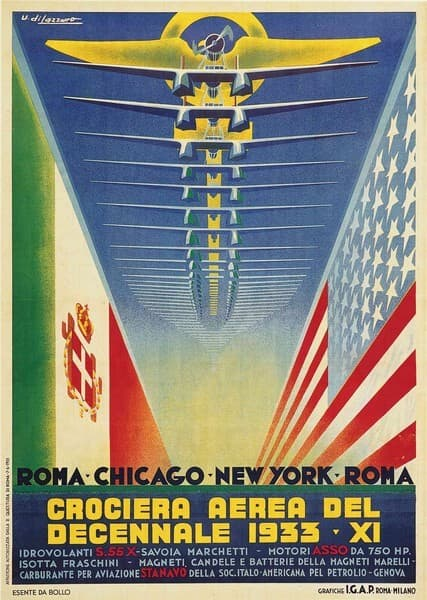 Crociera Aerea del Decennale. Roma Chicago New York Roma