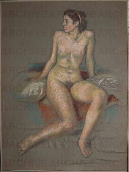 Nudo femminile seduto