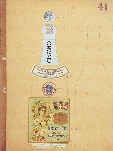 Cinzano Moscato D'Asti Spumante Studio per packaging