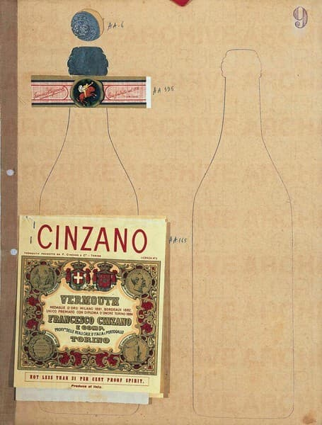 Cinzano Vermouth. Studio per packaging