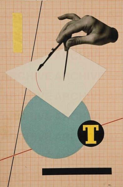 """T (Studio preparatorio per pubblicità  sulla rivista """"Campo Grafico"""")"""