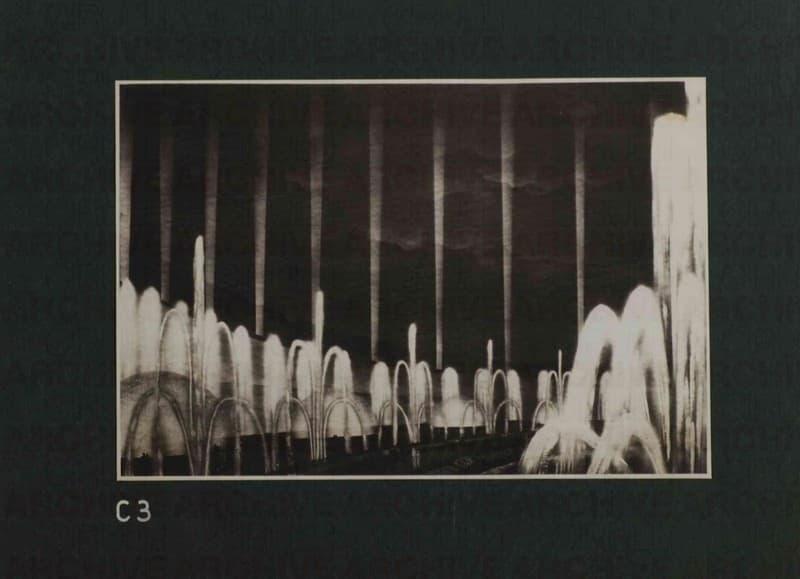 Esposizione Universale di Roma 1942 Foto di bozzetto per Giardini luminosi