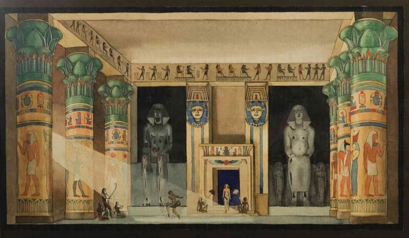Esposizione Universale di Roma 1942 Progetto per Attrazione Teatrale Historia de la Danza Bozzetto per allestimento