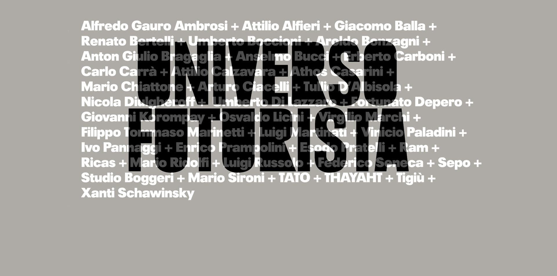 UNIVERSO FUTURISTA | Apre la Fondazione Massimo e Sonia Cirulli