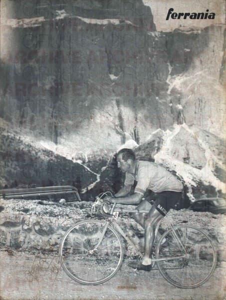 Gino Bartali verso il Passo Sella