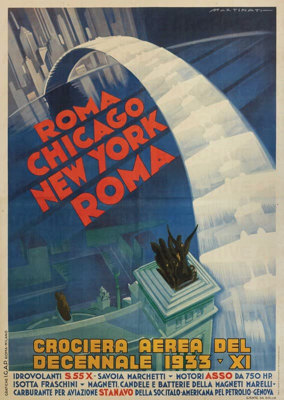 Crociera Aerea del Decennale Roma Chicago New York Roma