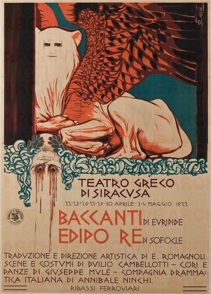 Manifesto per Edipo re di Sofocle, Baccanti di Euripide