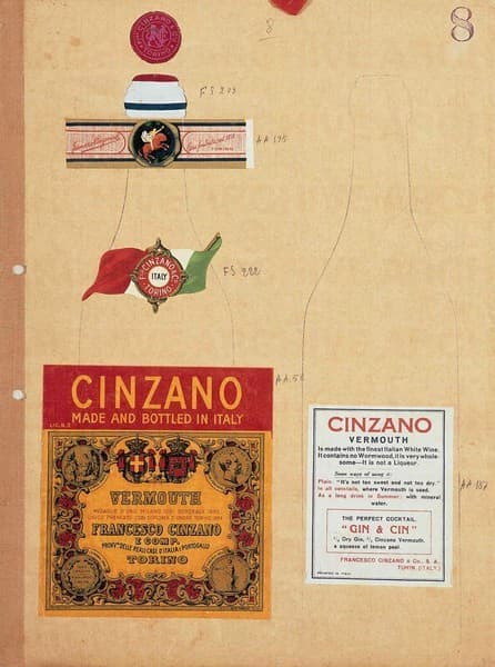 Vermouth Cinzano. Studio per packaging