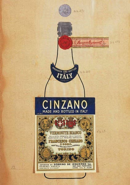 Cinzano Vermouth Bianco  Studio per packaging