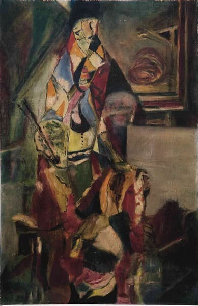 Moi. Le peintre dans son atelier