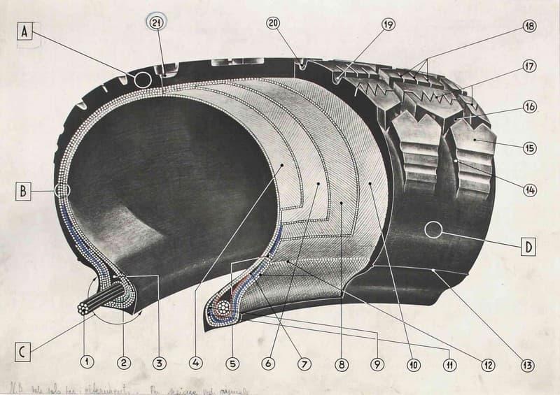 Pirelli. Sezione di pneumatico per moto