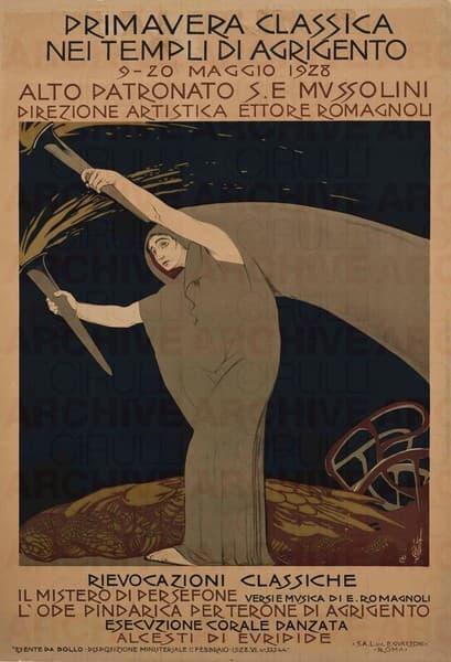 """Manifesto per """"Il Mistero di Persefone"""""""