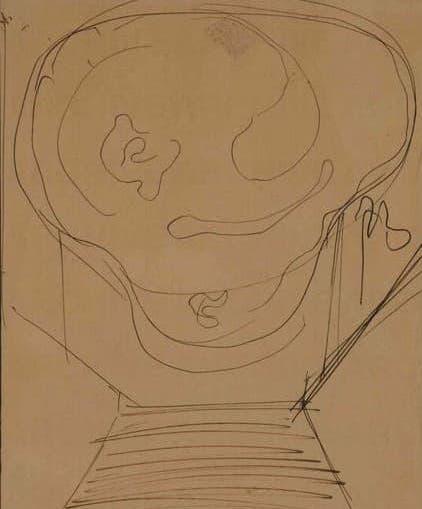 """Lucio Fontana, Studio per """"concetto spaziale"""""""